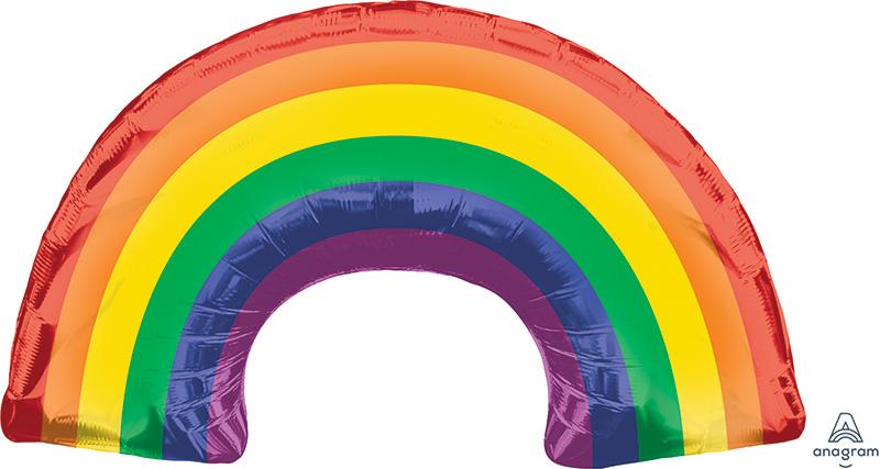 """34"""" Rainbow SuperShape Foil Balloon"""