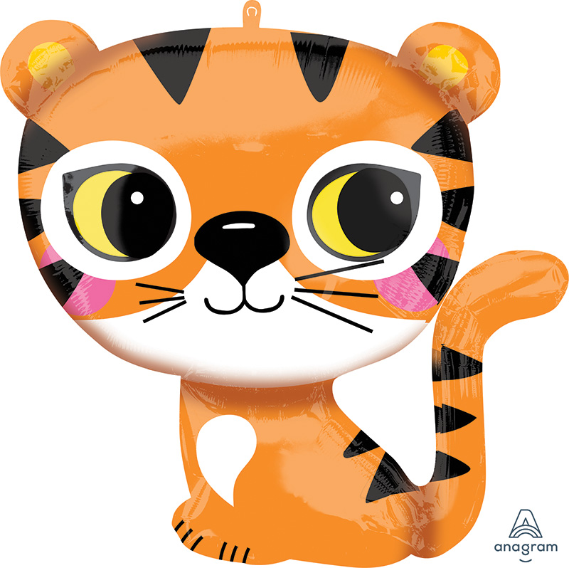 "25"" Tiger SuperShape Foil Balloon"