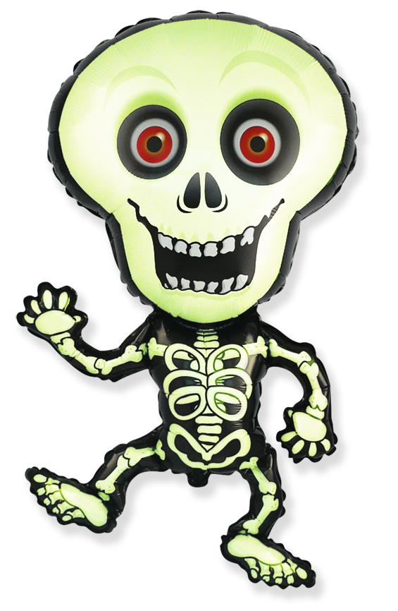 Jumbo Halloween Skeleton Green Foil Balloon
