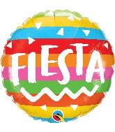 "18"" Round Fiesta Rainbow Stripes Foil Balloon"