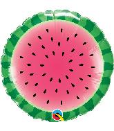 "18"" Round Sliced Watermelon Foil Balloon"