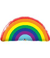 "36"" Shape Bright Rainbow Foil Balloon"
