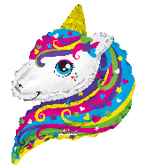 """12"""" Airfill Only Unicorn Fairy Shape Foil Balloon"""