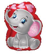"18"" Baby Elephant Foil Balloon"