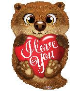 "18"" I Love You Otter Foil Balloon"