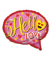 "18"" Hello Love Foil Balloon"