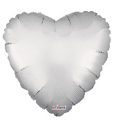 "9"" Solid Color Matte Silver Foil Balloon"