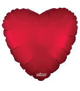 """18"""" Solid Color Matte Red Foil Balloon"""