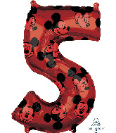 "26"" Mickey Mouse Forever Number 5 Mid-Size Foil Balloon"