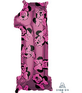 """26"""" Minnie Mouse Forever Number 1 Mid-Size Foil Balloon"""