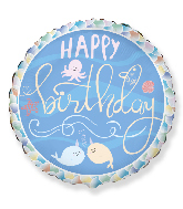 "18"" Happy Birthday Narwhal Friends Foil Balloon"