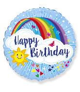 """18"""" Happy Birthday Rainbow Foil Balloon"""