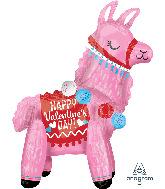 "22"" Airfill Only Valentine Llama Foil Multi-Balloon"
