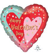 """18"""" Happy Valentine's Day Confetti Dots Foil Balloon"""