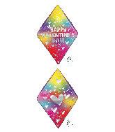 "25"" Anglez Valentine's Day Rainbow Gem Foil Balloon"