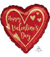 """28"""" Jumbo Valentine's Day Arrow Heart Foil Balloon"""