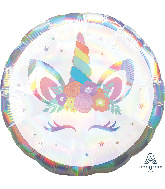 "18"" Unicorn Party Iridescent Foil Balloon"