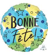 """18"""" Bonne Fête Celebration Foil Balloon"""