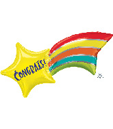 "27"" Congrats Shooting Star SuperShape Foil Balloon"