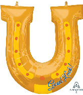 "28"" Good Luck Horseshoe SuperShape Foil Balloon"