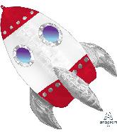 """29"""" Rocket Ship UltraShape Foil Balloon"""