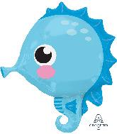 """21"""" Seahorse Foil Balloon"""