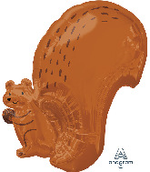 "20"" Squirrel Standard Shape Foil Balloon"