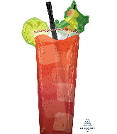 """37"""" Bloody Mary SuperShape Foil Balloon"""