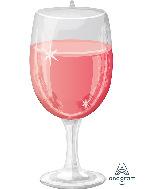 """31"""" Rosé Glass SuperShape Foil Balloon"""