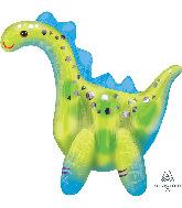 """23"""" Airfill Only Stegosaurus Multi-Balloon Foil Balloon"""