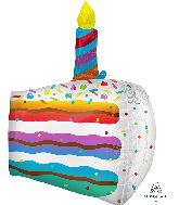 "25"" Cake Slice UltraShape Foil Balloon"