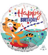"18"" Happy Tiger Birthday Foil Balloon"