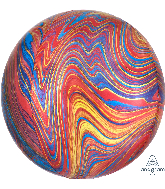 "16"" Jumbo Colorful Rainbow Marblez Orbz Foil Balloon"