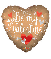 "36"" Be My Valentine Matte Foil Balloon"