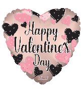 "9"" Valentine's Hearts Matte Foil Balloon"