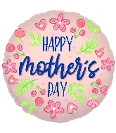 """18"""" Happy Mother's Day Flowers Rose Gold Foil Balloon"""
