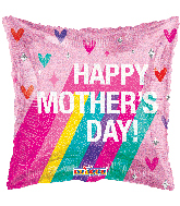 """18"""" Happy Mother's Day Rainbow Holographic Foil Balloon"""