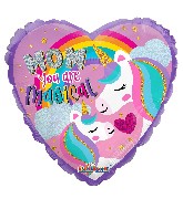 """9"""" Airfill Only Mom Unicorn Holographic Foil Balloon"""