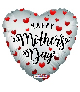 """18"""" Happy Mother's Day Hearts Mt Foil Balloon"""