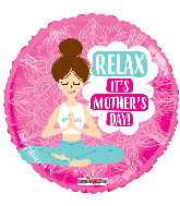 """17"""" Happy Mother's Day Yoga Mom Foil Balloon"""