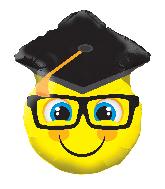 "12"" Smiley With Grad Cap Shape Foil Balloon"