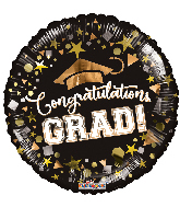 "4"" Airfill Only Congratulations Grad Foil Balloon"