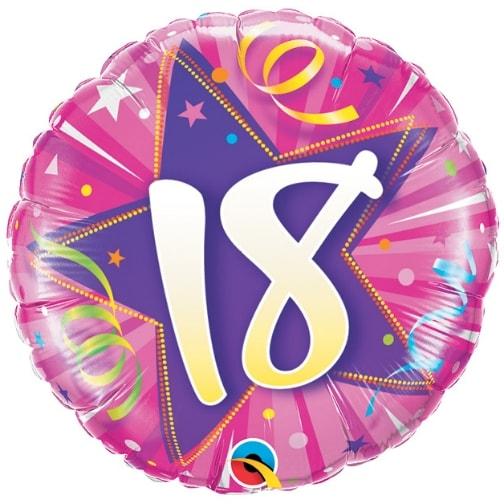 """18"""" 18 Shining Star Hot Pink Mylar Balloon"""