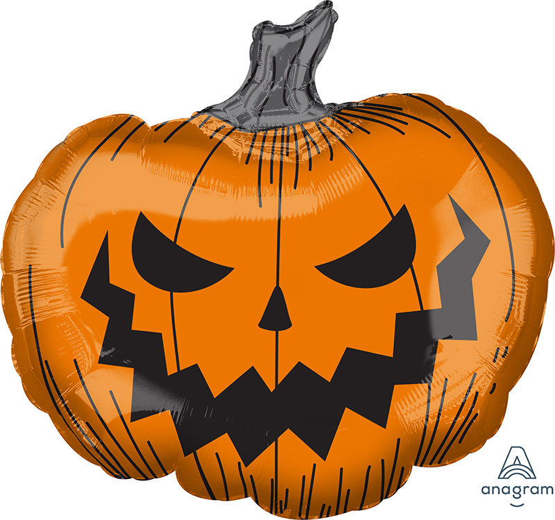 "29"" Jumbo Hallows' Eve Pumpkin Foil Balloon"