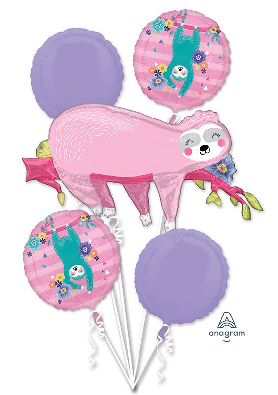 Bouquet Sloth Foil Balloon