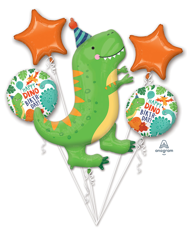 Bouquet Dinomite Birthday Party Foil Balloon