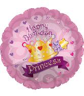 "24"" Jumbo Happy Birthday Princess Foil Balloon"