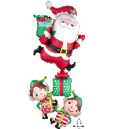 "63"" Jumbo Multi Christmas Characters Stacker Foil Balloon"