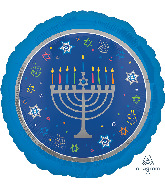 "18"" Eight Happy Nights Hanukkah Foil Balloon"