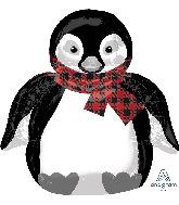 """28"""" Jumbo Cozy Holiday Penguin Foil Balloon"""